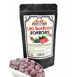 Chili Twinberry Candy - Blueberry and Raspberry - spicy -...